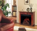Strasburg Vintage Cherry Electric Fireplace Roll Away