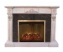 Carlisle 66 Antique White with Black Marble Mantel & 35