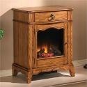 Jamestown Antique Oak Electric Fireplace Petit Foyer
