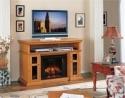 Pasadena 28 Premium Oak Media Console Electric Fireplace Cabinet