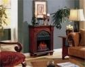 Regency Antique Mahogany Electric Fireplace Petit Foyer